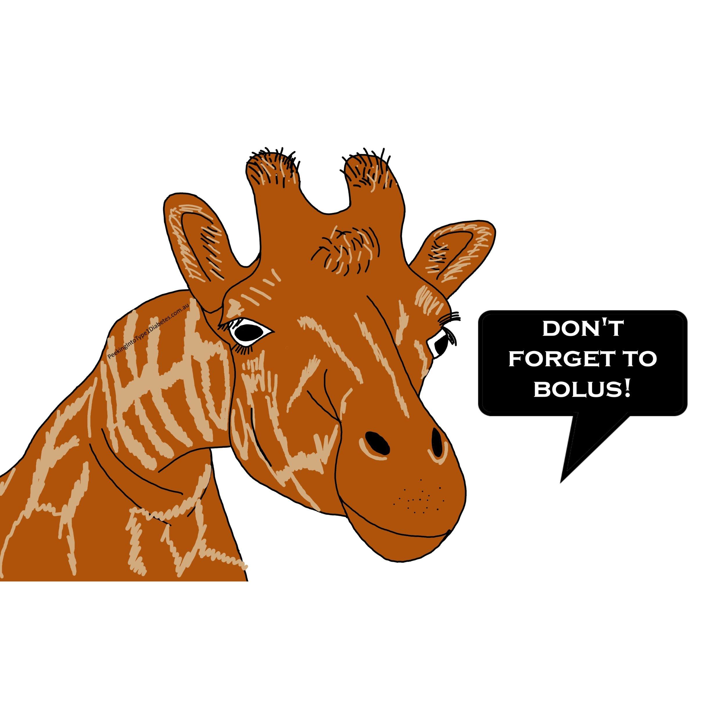 giraffe dont forget to bolus.jpg