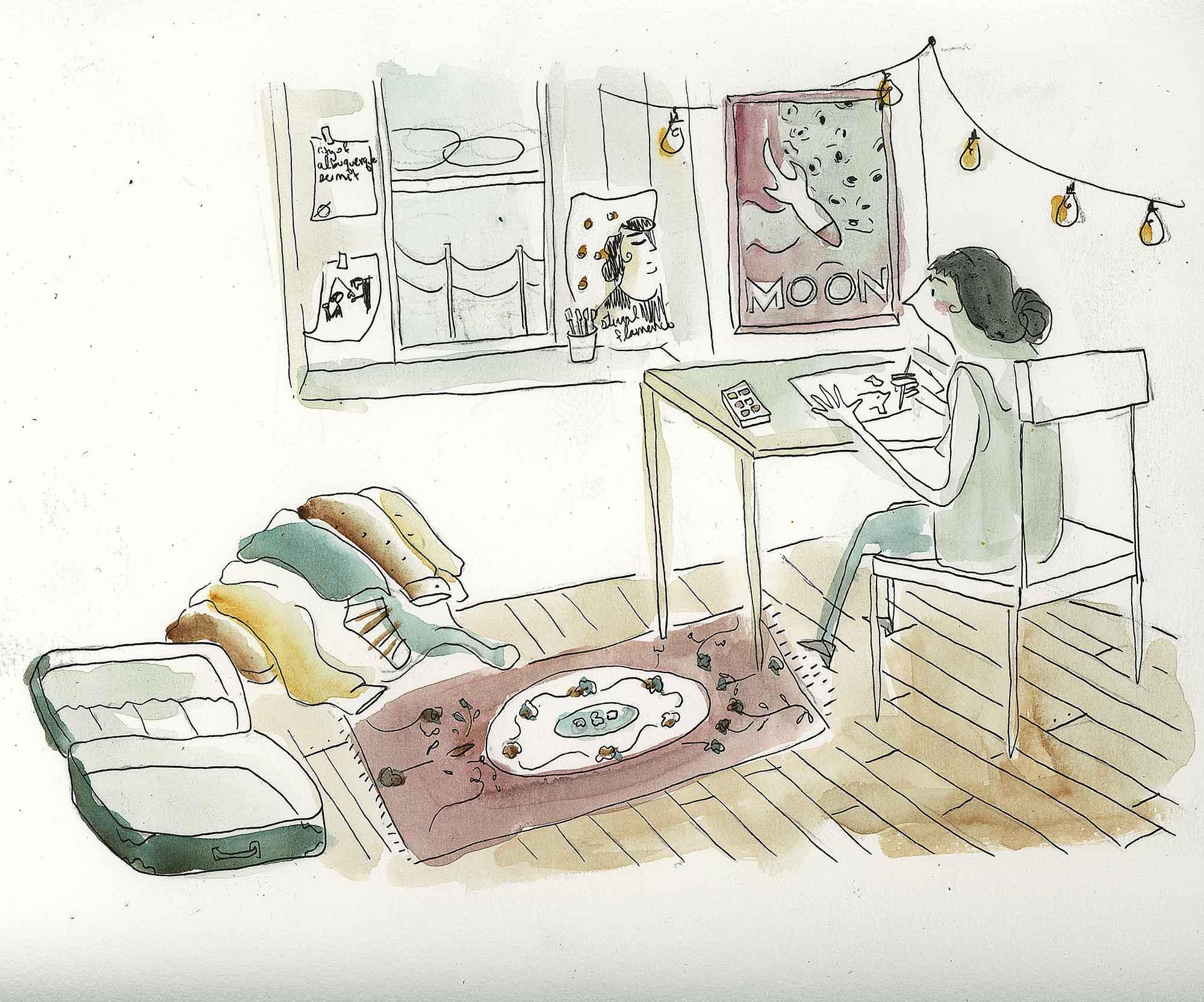 Zahra Marwan-Packing-Watercolor on Paper.jpg
