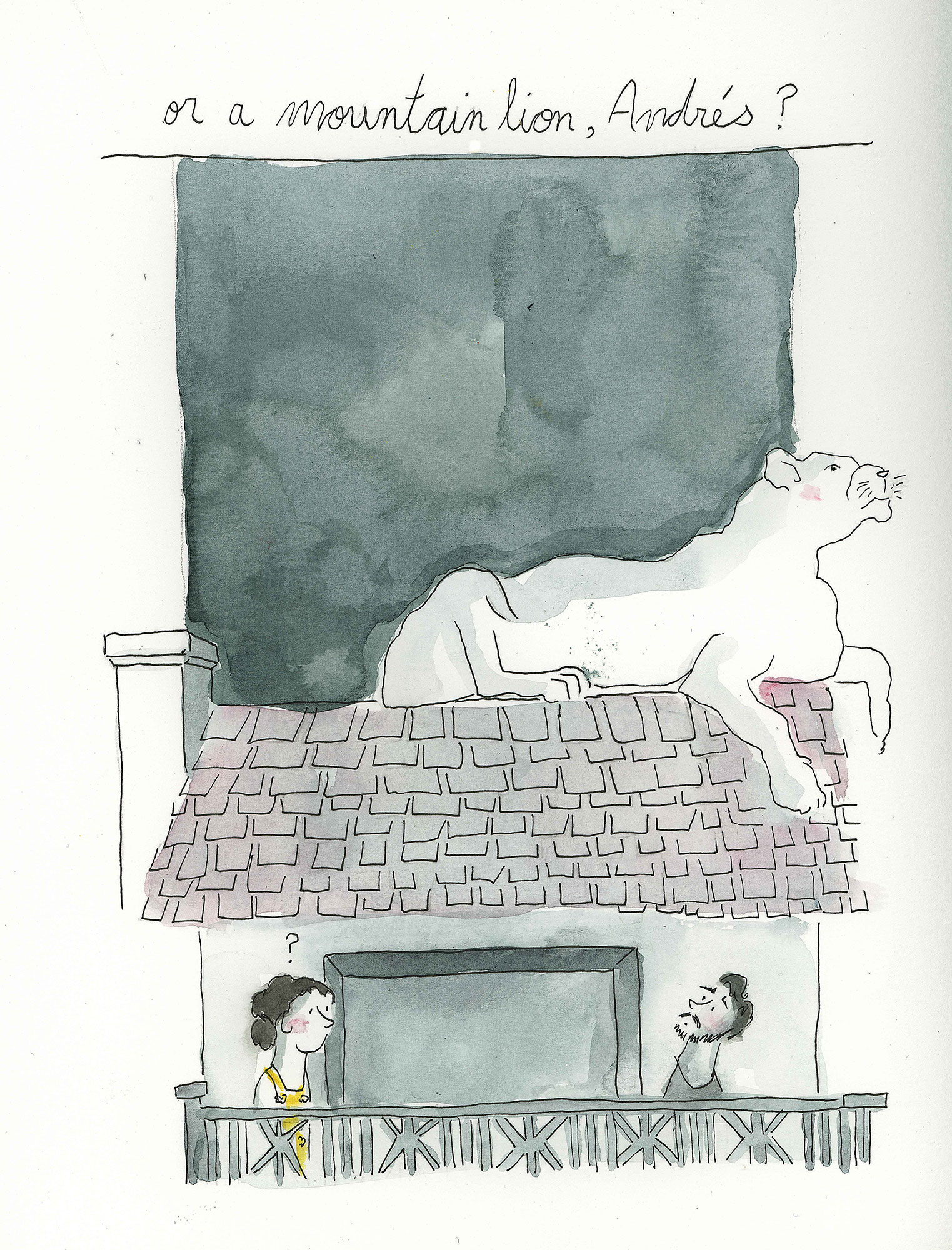 Zahra Marwan-Mountain Lion-Watercolor on Paper.jpg