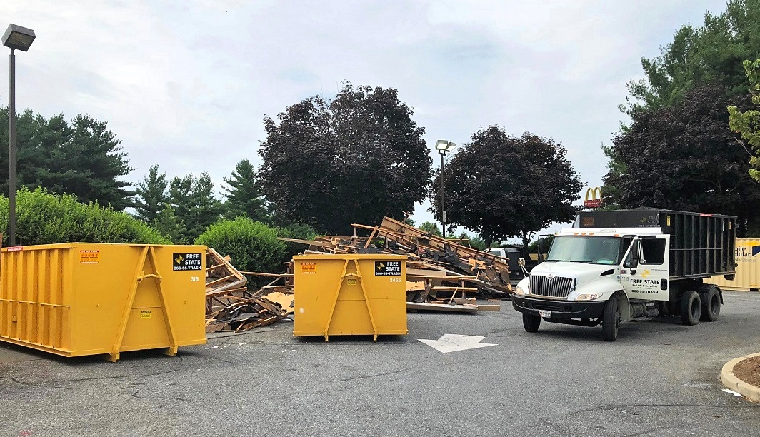 Need multiple dumpsters and daily dumps to clean up a big mess? Not a problem 443-838-7274
