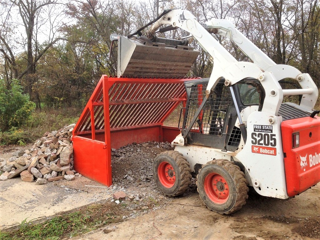 Dumpster rentals in Frederick available for concrete, brick, block and dirt recycling.