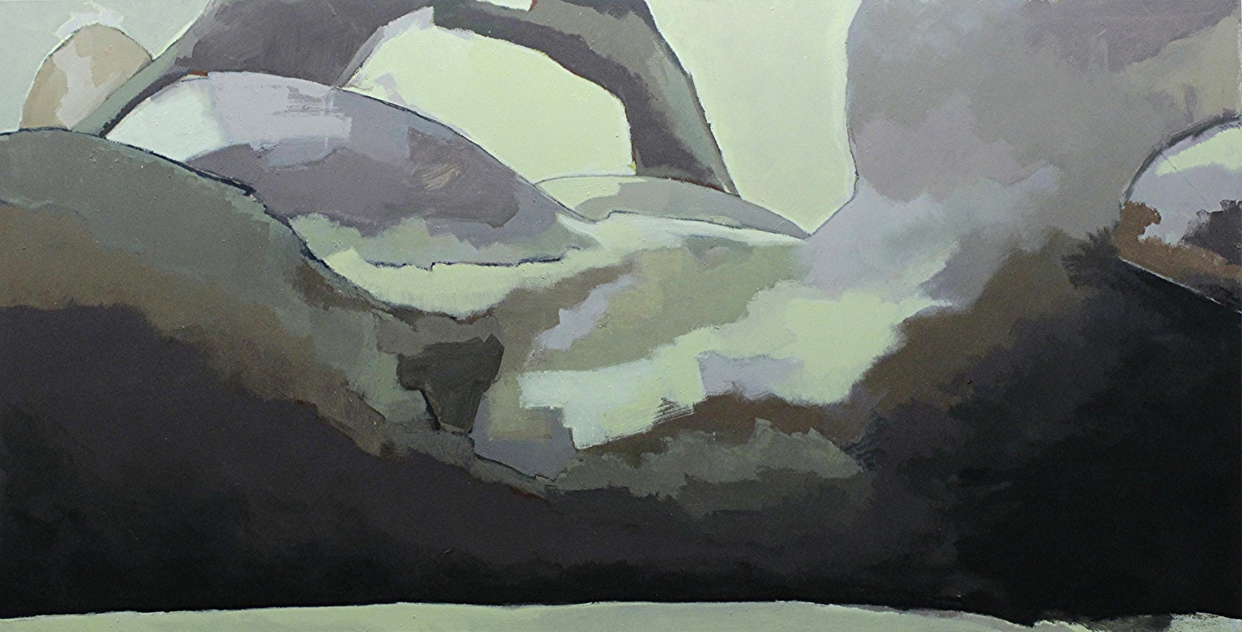 "Valley, acrylic on canvas, 48"" x 84"", 2015"