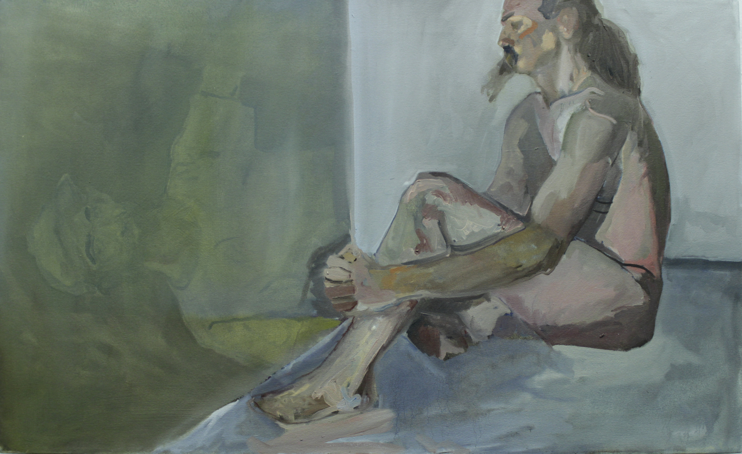 Untitled Study Over-imposed on Self Portrait