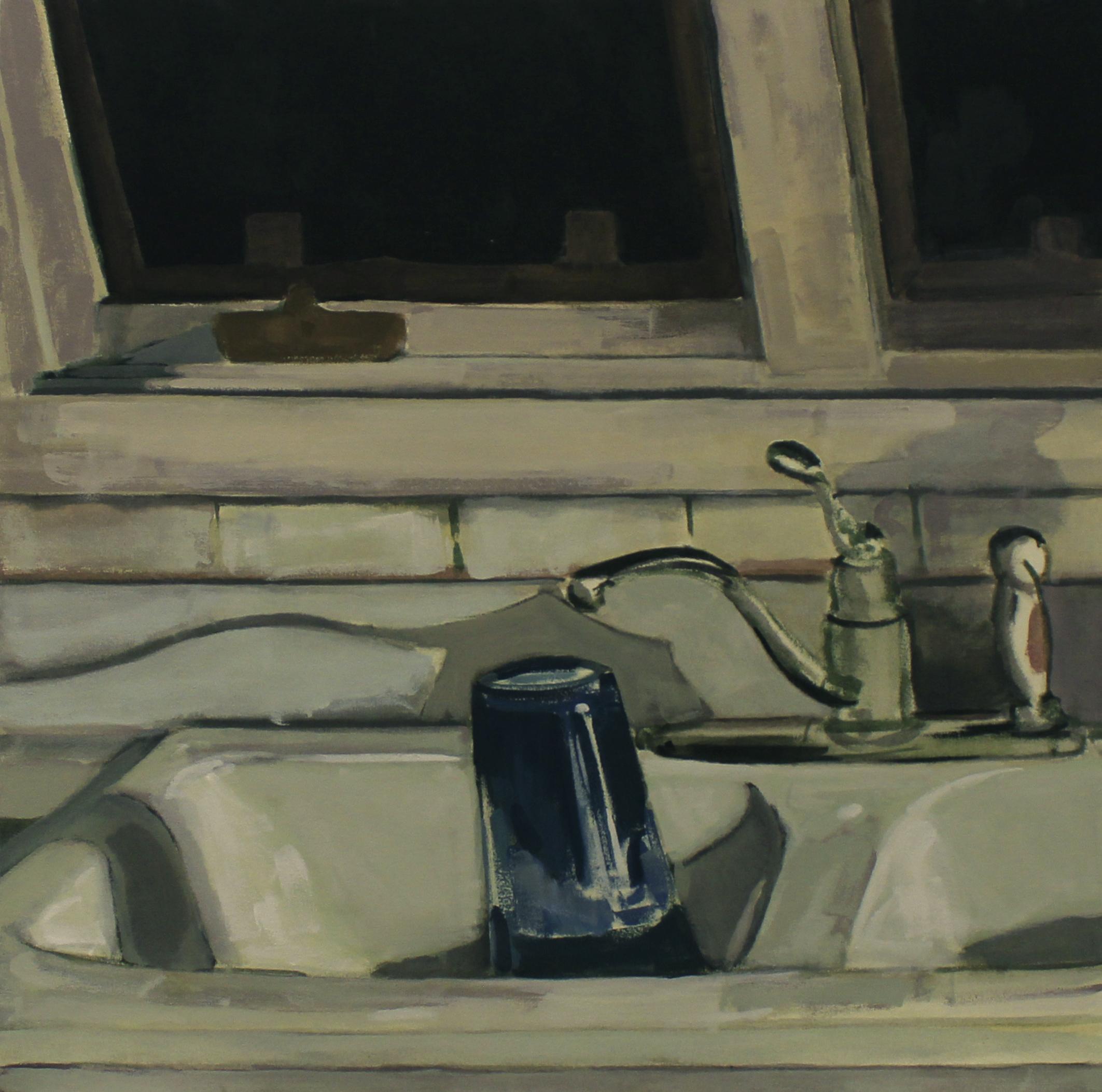 "The Sink, 36"" x 36"", acrylic on canvas, 2016"