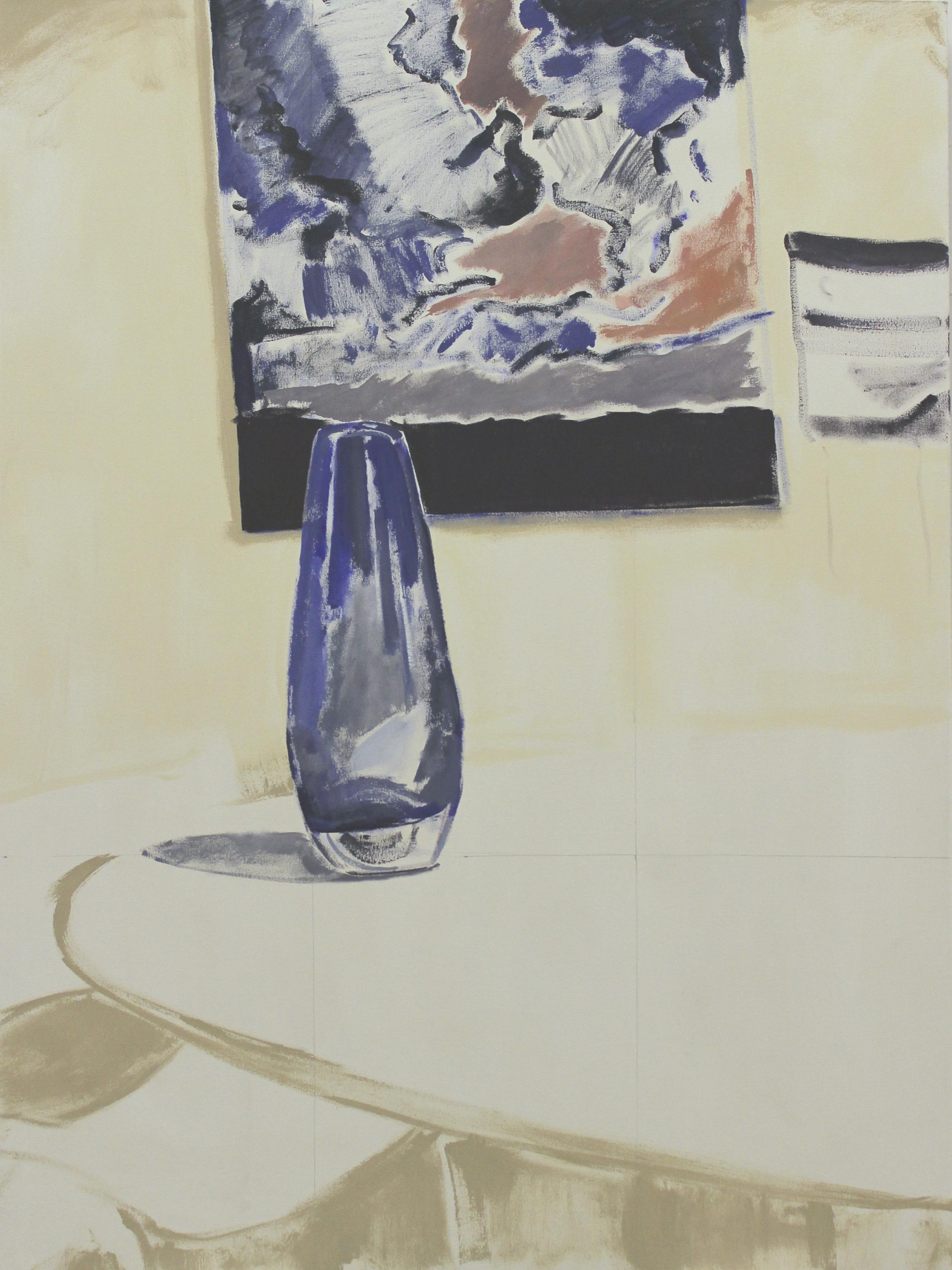 "Three Artists, 55"" x 41"", acrylic on canvas, 2016"