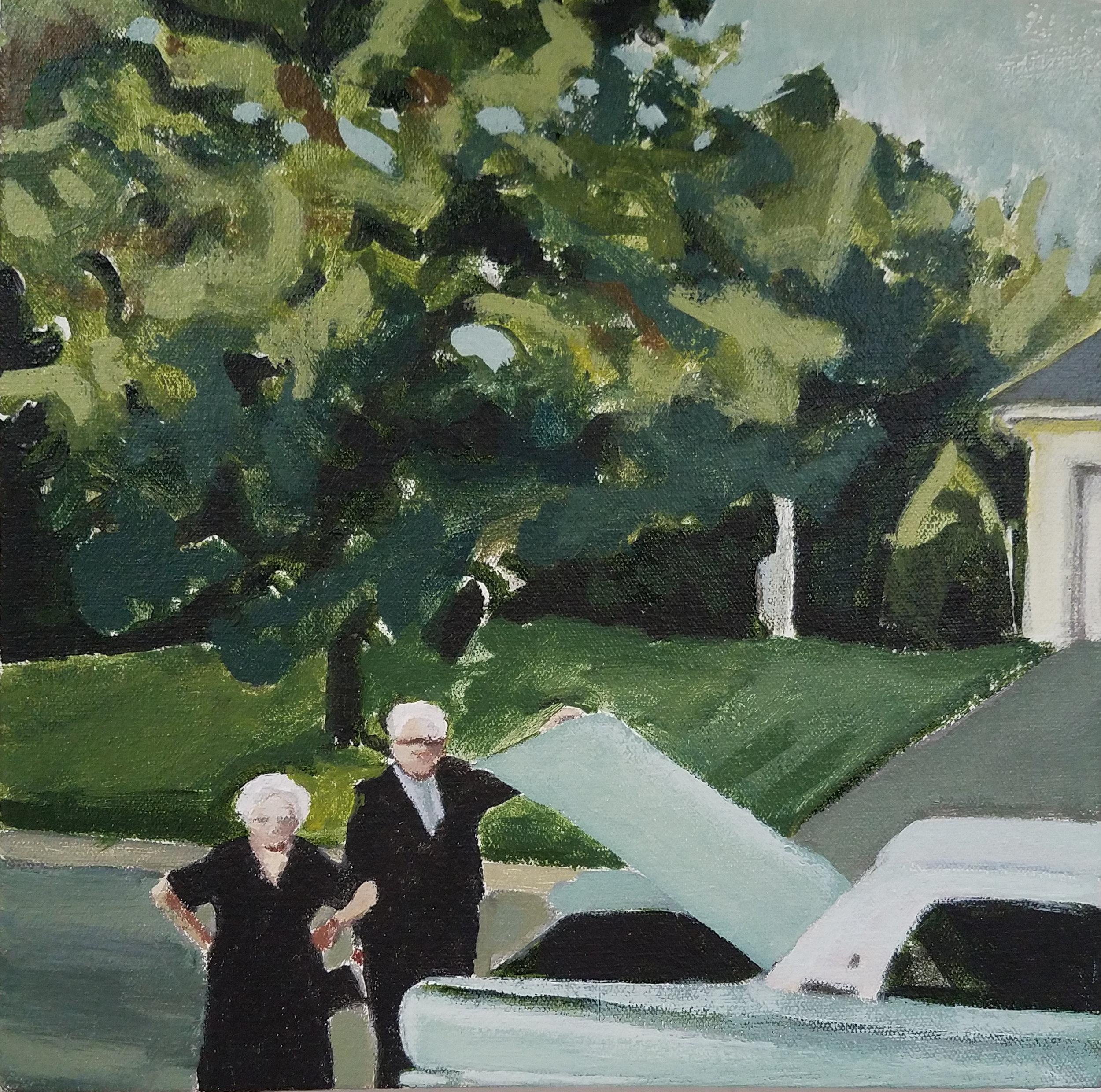 "(Untitled), acrylic on canvas, 12"" x 12"", 2017"