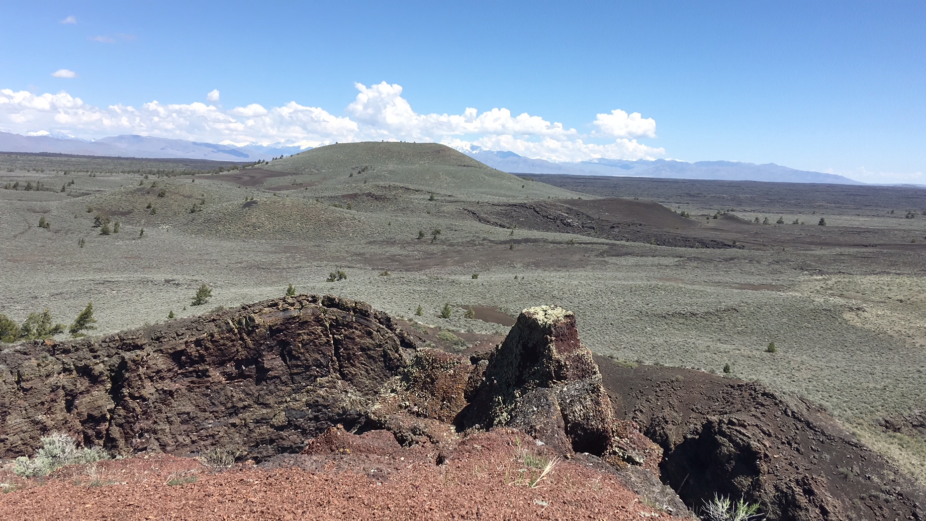 View from Echo Crater in the wilderness area.