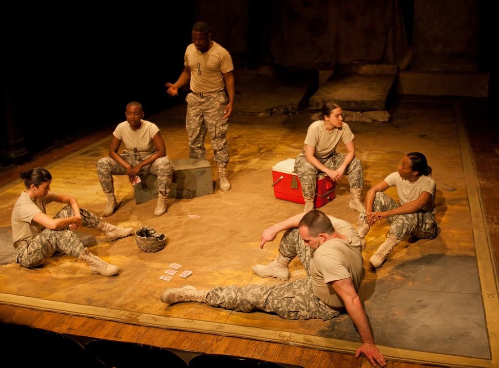 Ajax In Iraq, Flux Theater, CSV Cultural Center NY, 2011, photographer: Isaiah Tanenbaum