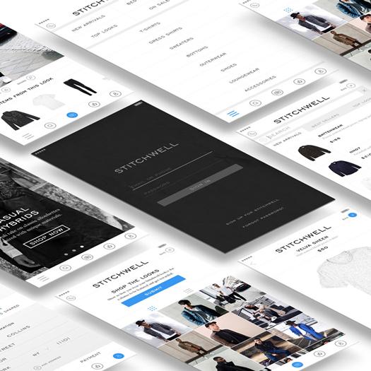 STITCHWELL app   Art Direction, UI/UX Design