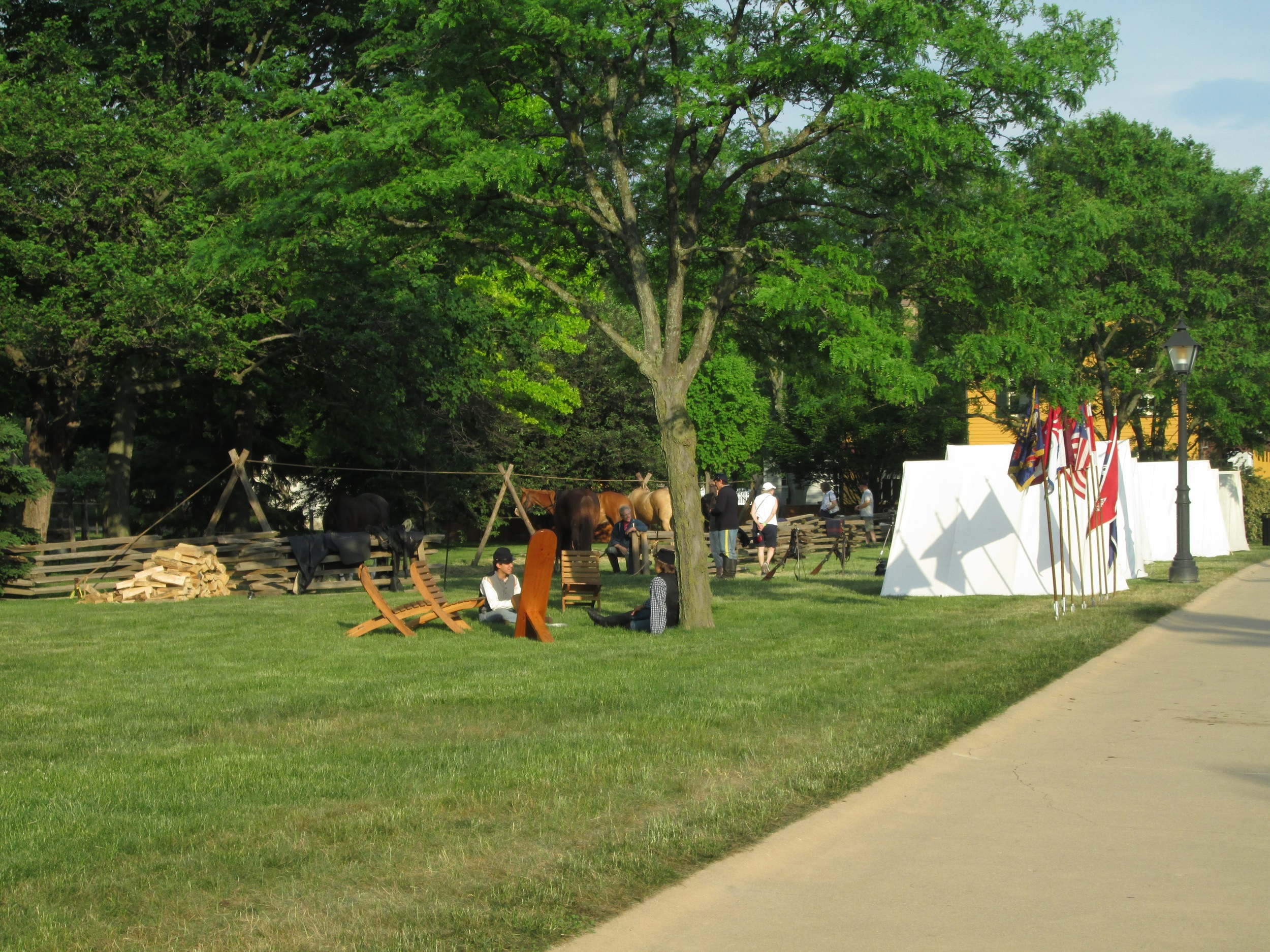 Evening Scenes from Greenfield Village Civil War Remembrance
