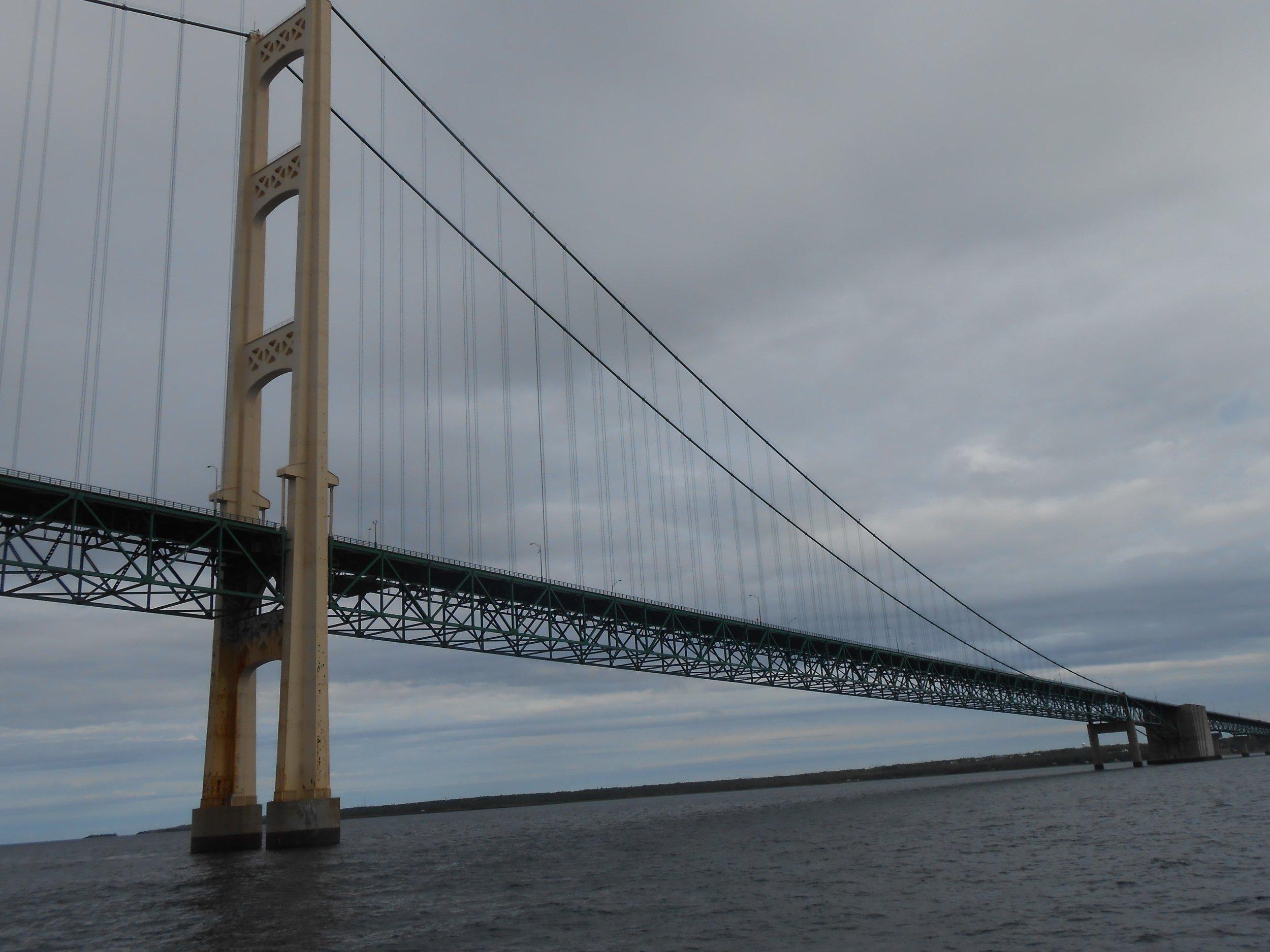 Mackinac Bridge connecting Michigan's Two peninsulas