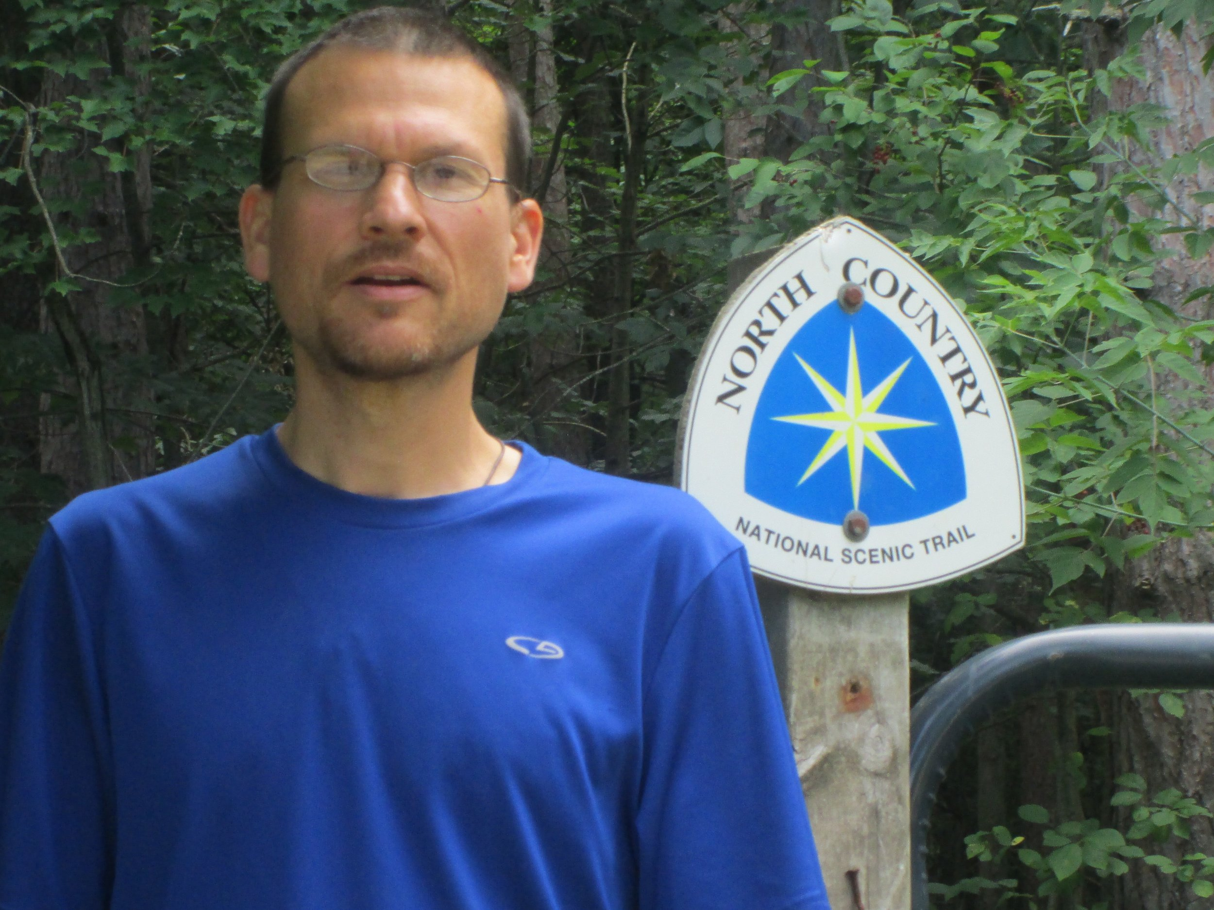 Hiking along the North country trail in the upper peninsula
