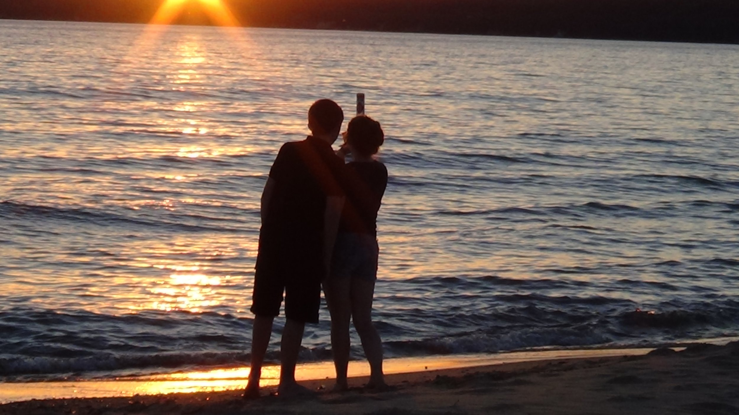 The sun setting at petoskey state park