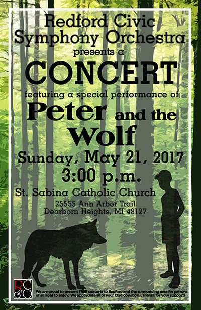 Redford CIvic Symphony Orchestra Presents Peter and the Wolf