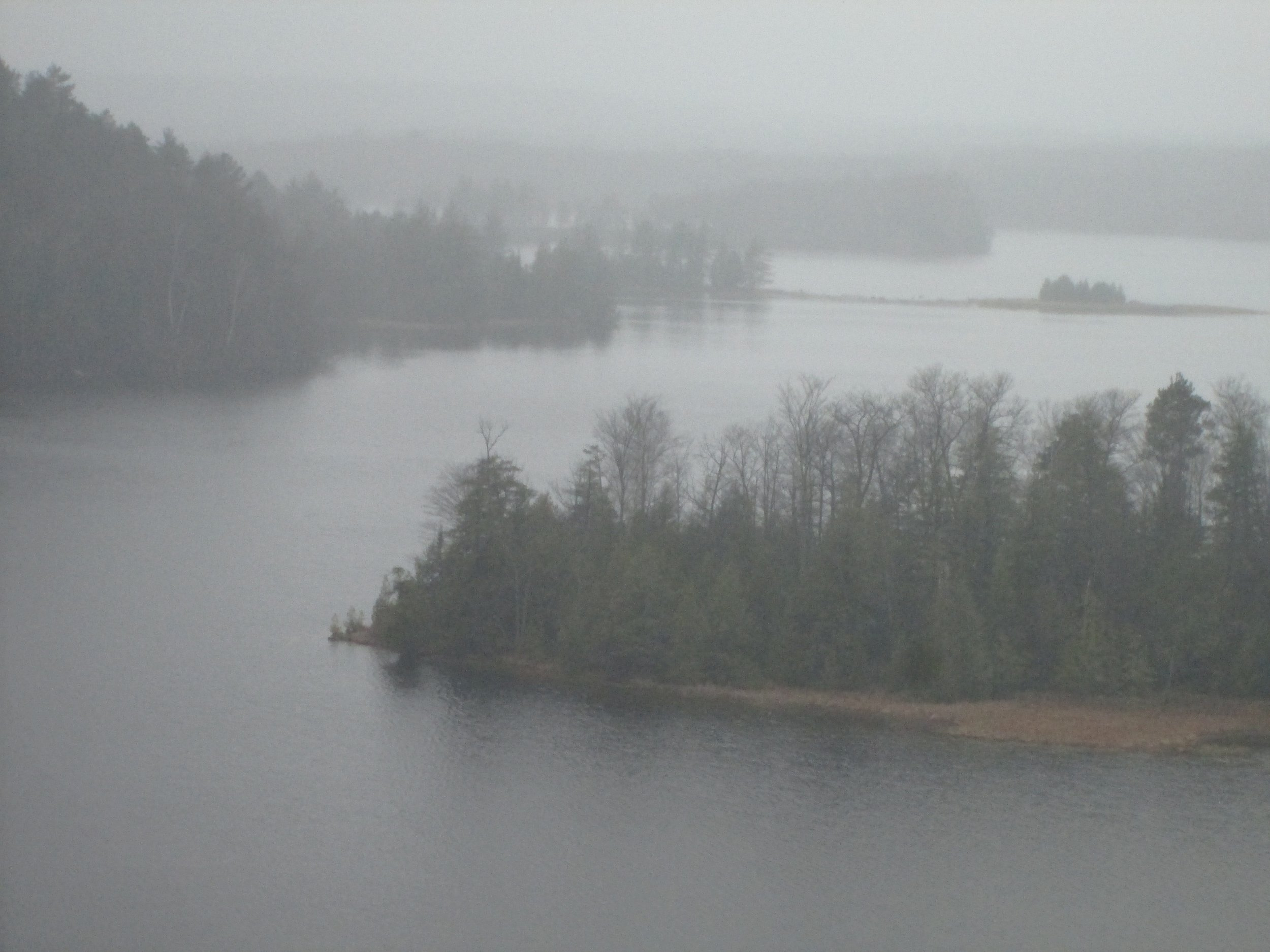View at Lumberman's Monument in OScoda on an overcast day