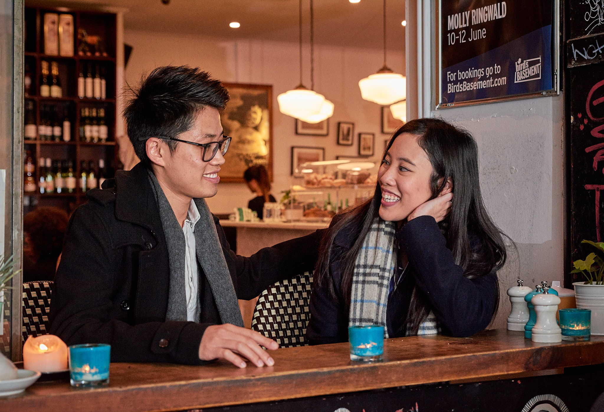 Bella and Emerson Block Place cafe Melbourne engagement session.jpg