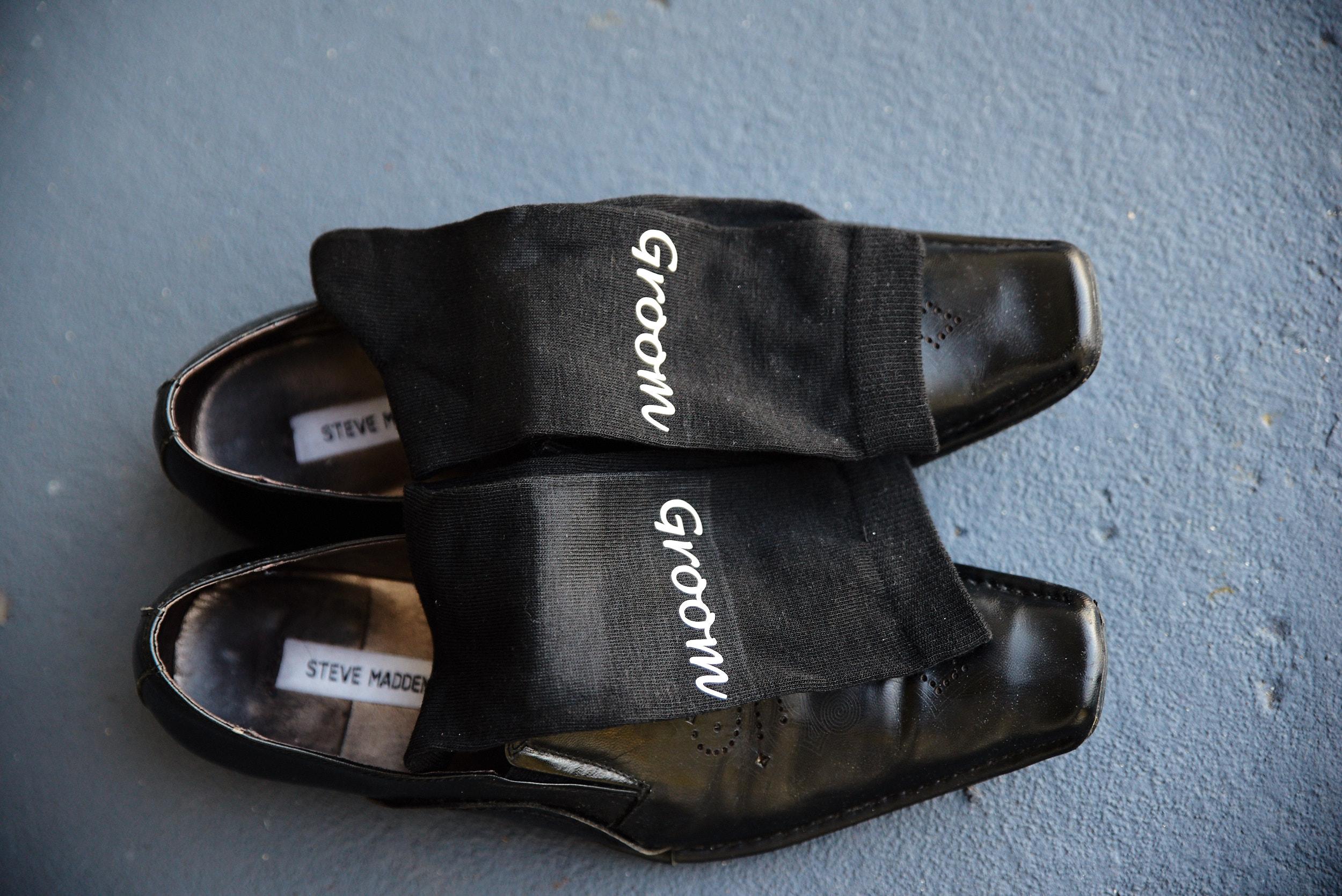 Groom's shoes and socks