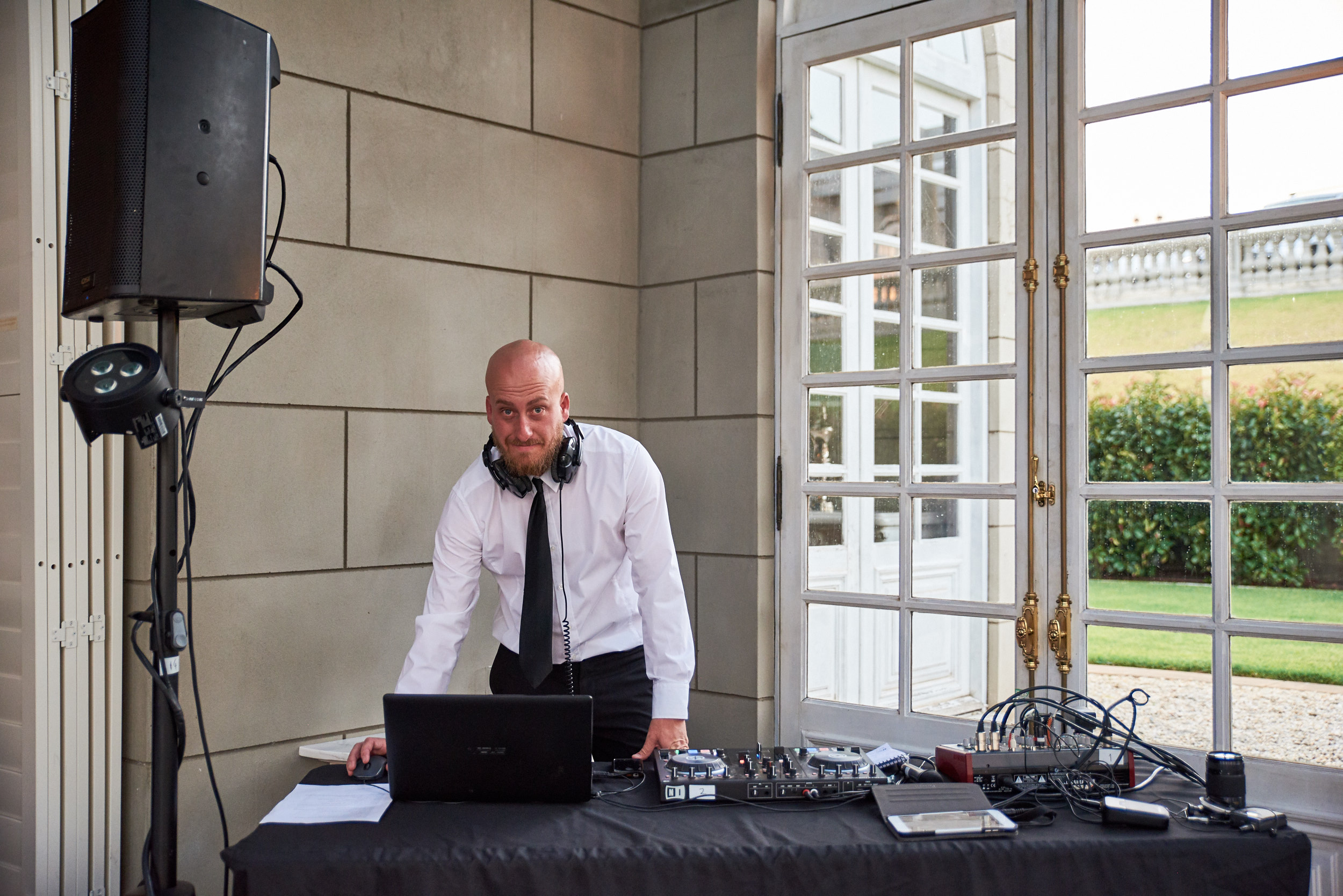 DJ at Campbell Point House wedding reception