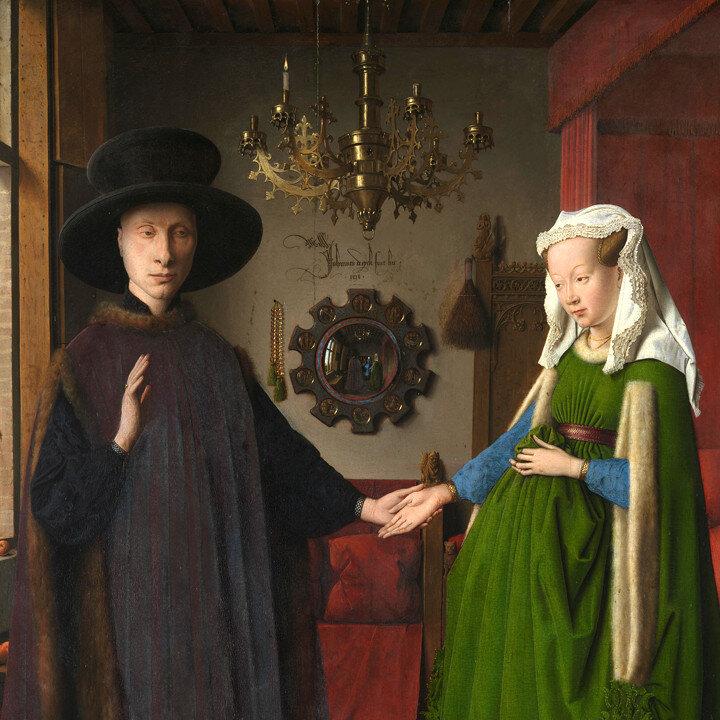 Arnolfini Portrait  (1434) by Jan van Eyck