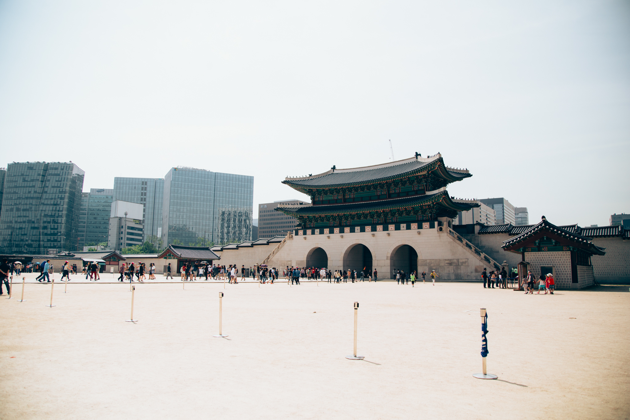 Gyeongbokgung Palace was the first palace ever to be built during the Joseon Period. For 516 years, 27 kings ruled Korea. That's some good genes!