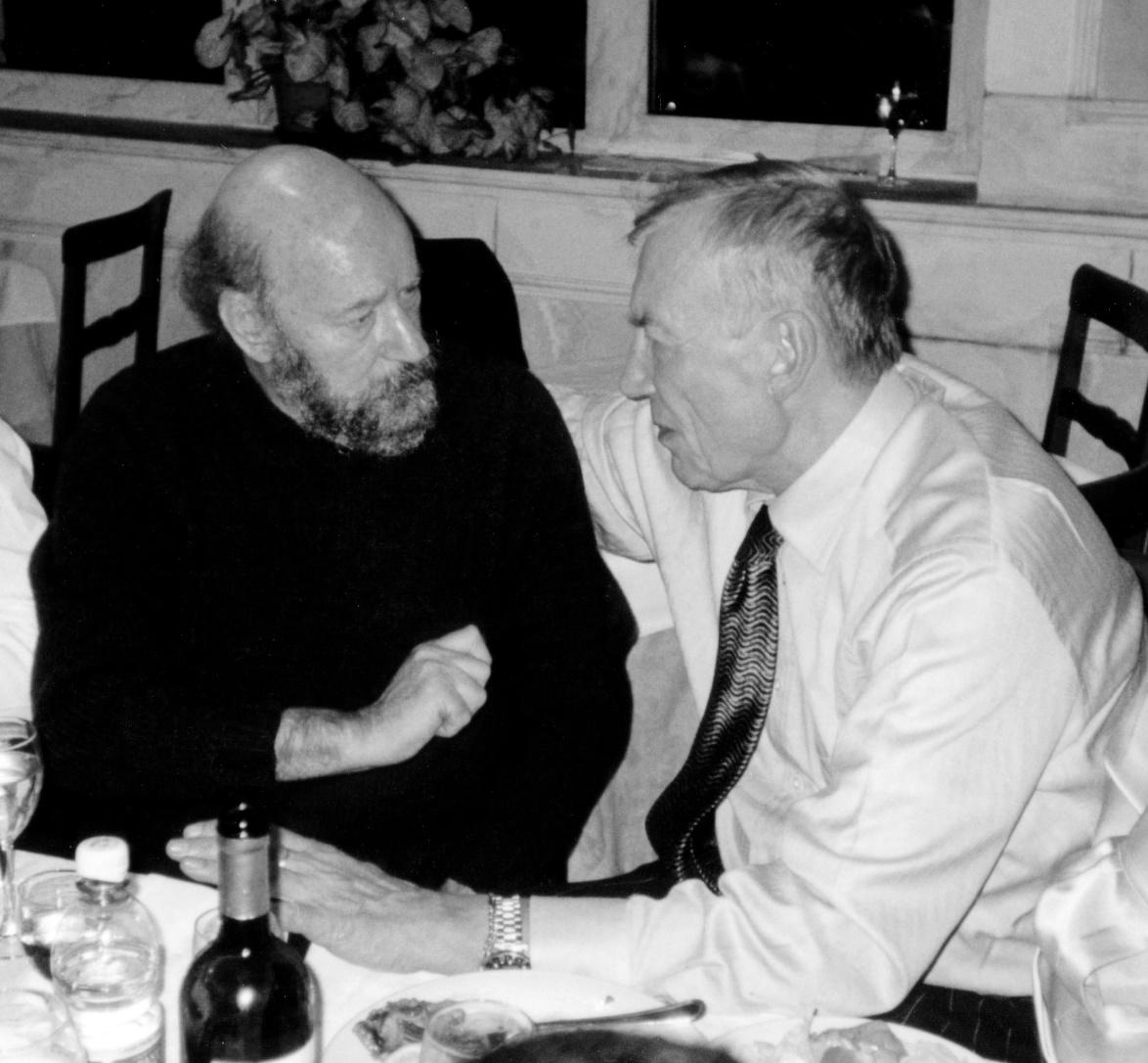 con Evgenij Aleksandrovic Evtusenko, 2001