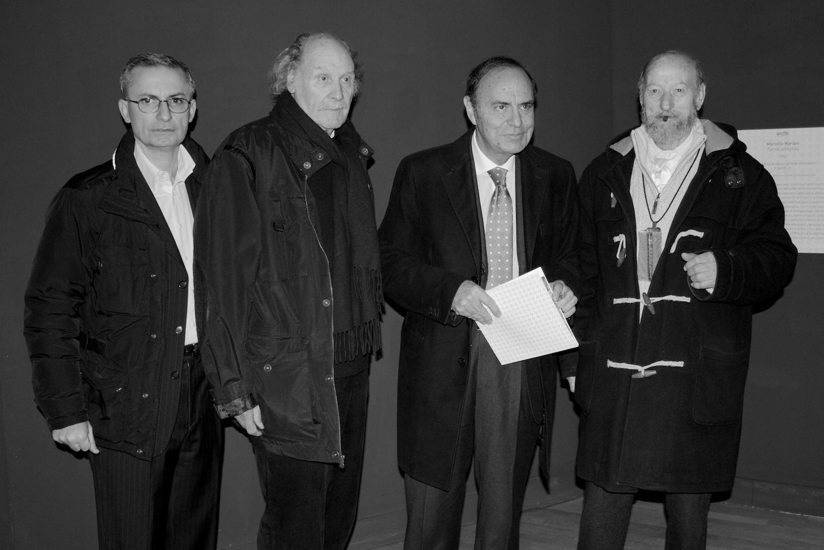 con Gabriele Simongini, Luigi Boille e Bruno Vespa, Complesso Monumentale del Vittoriano, Roma, 2012