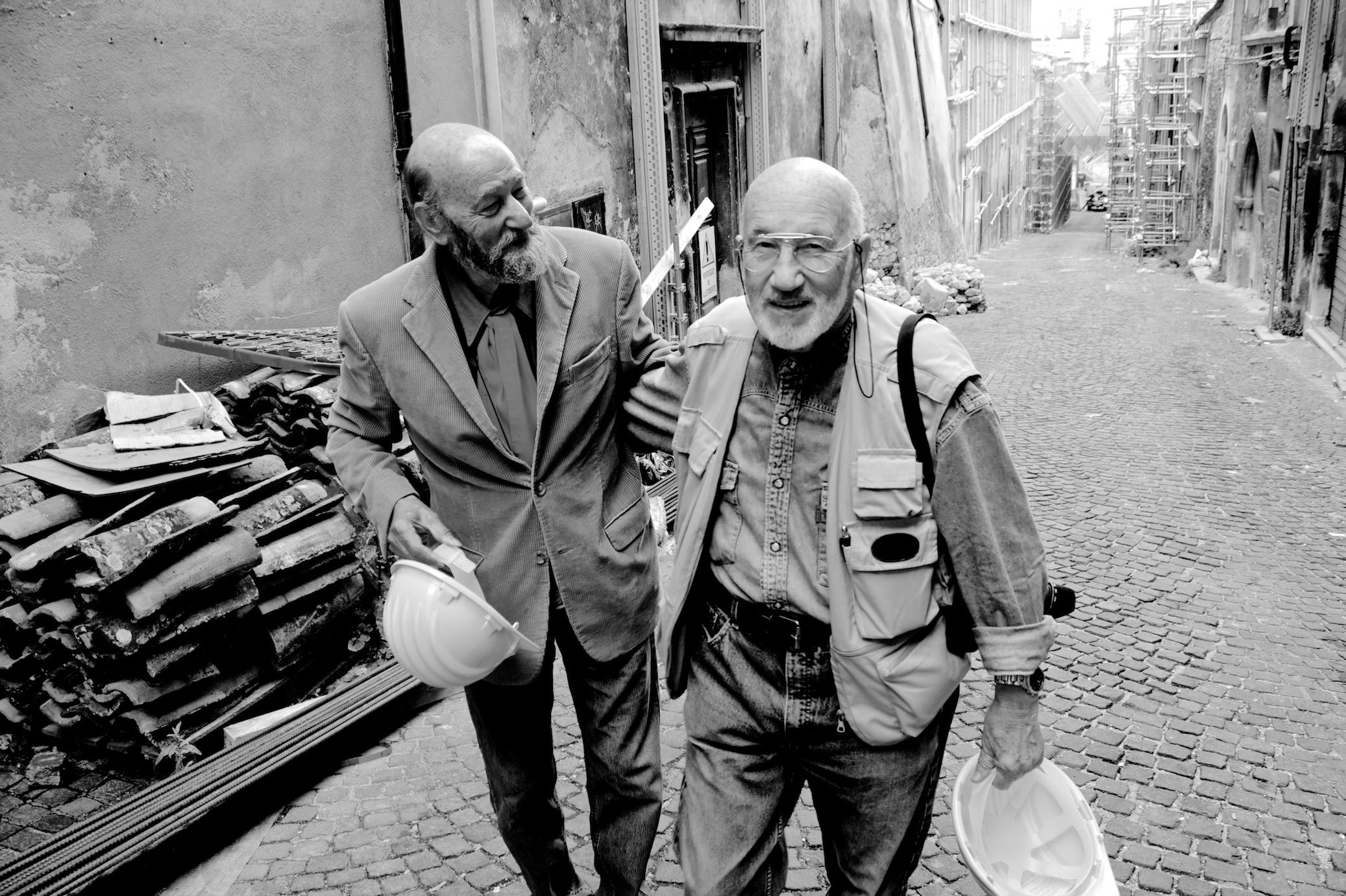 con Gianni Berengo Gardin, 2010
