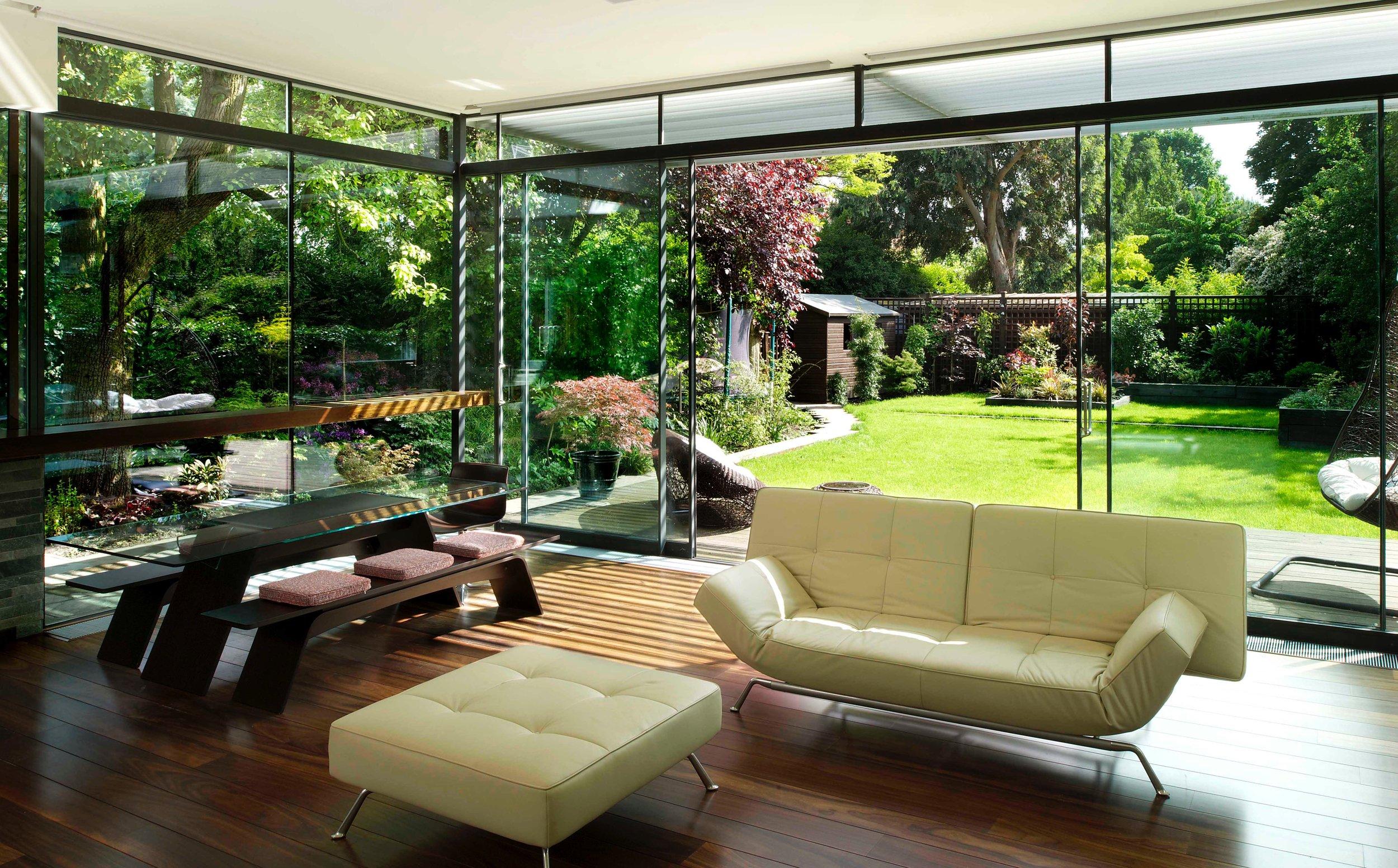 garden, floor by window