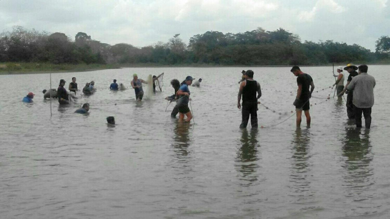 Maleku people fishing in the Caño Negro. Photo: Gerald Lacayo Blanco