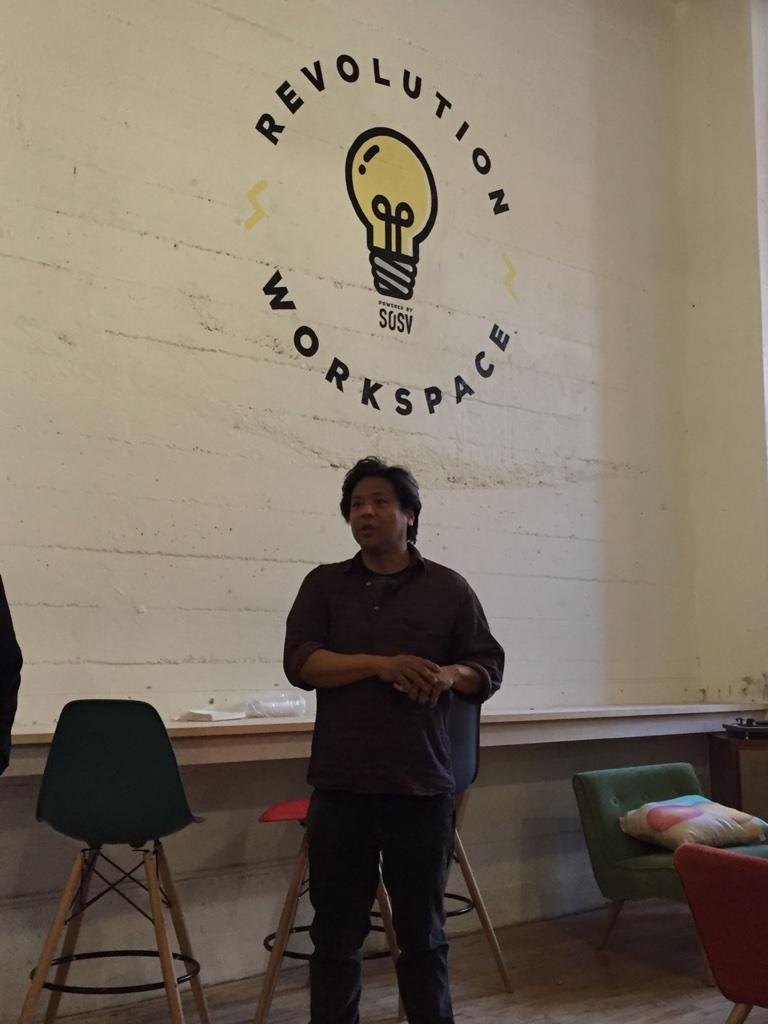 Ron Shigeta introduces IndieBio to the Study Tour