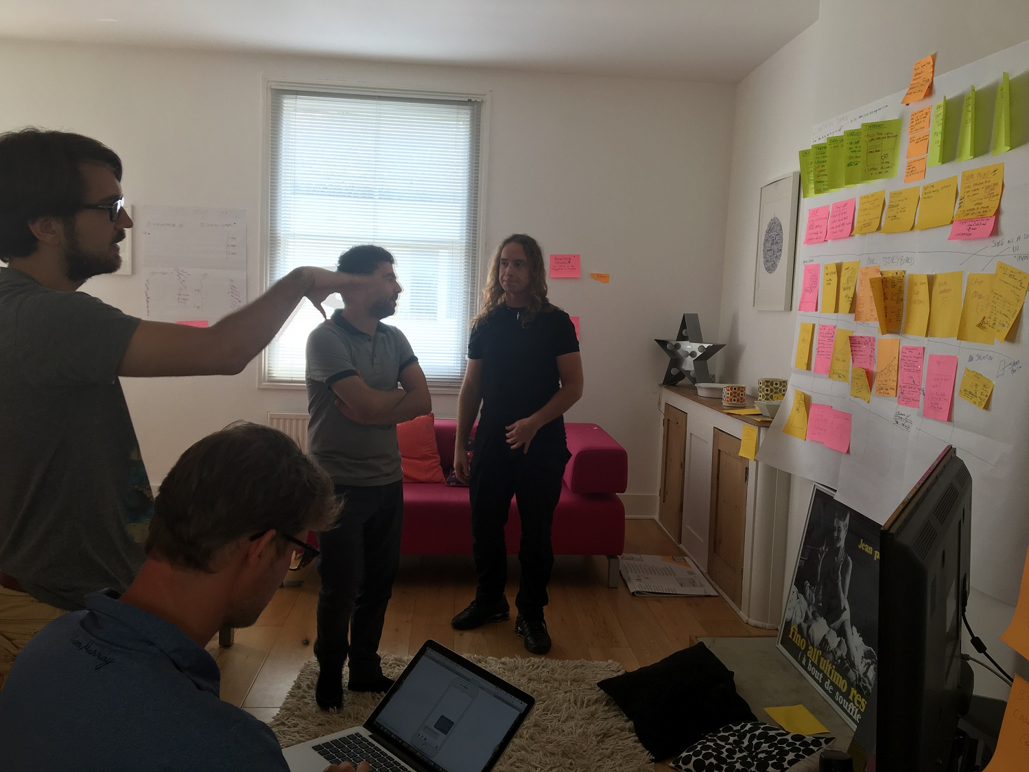 Working on our storyboard