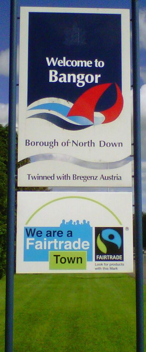 Bangor Fairtrade Town Sign 1.jpg