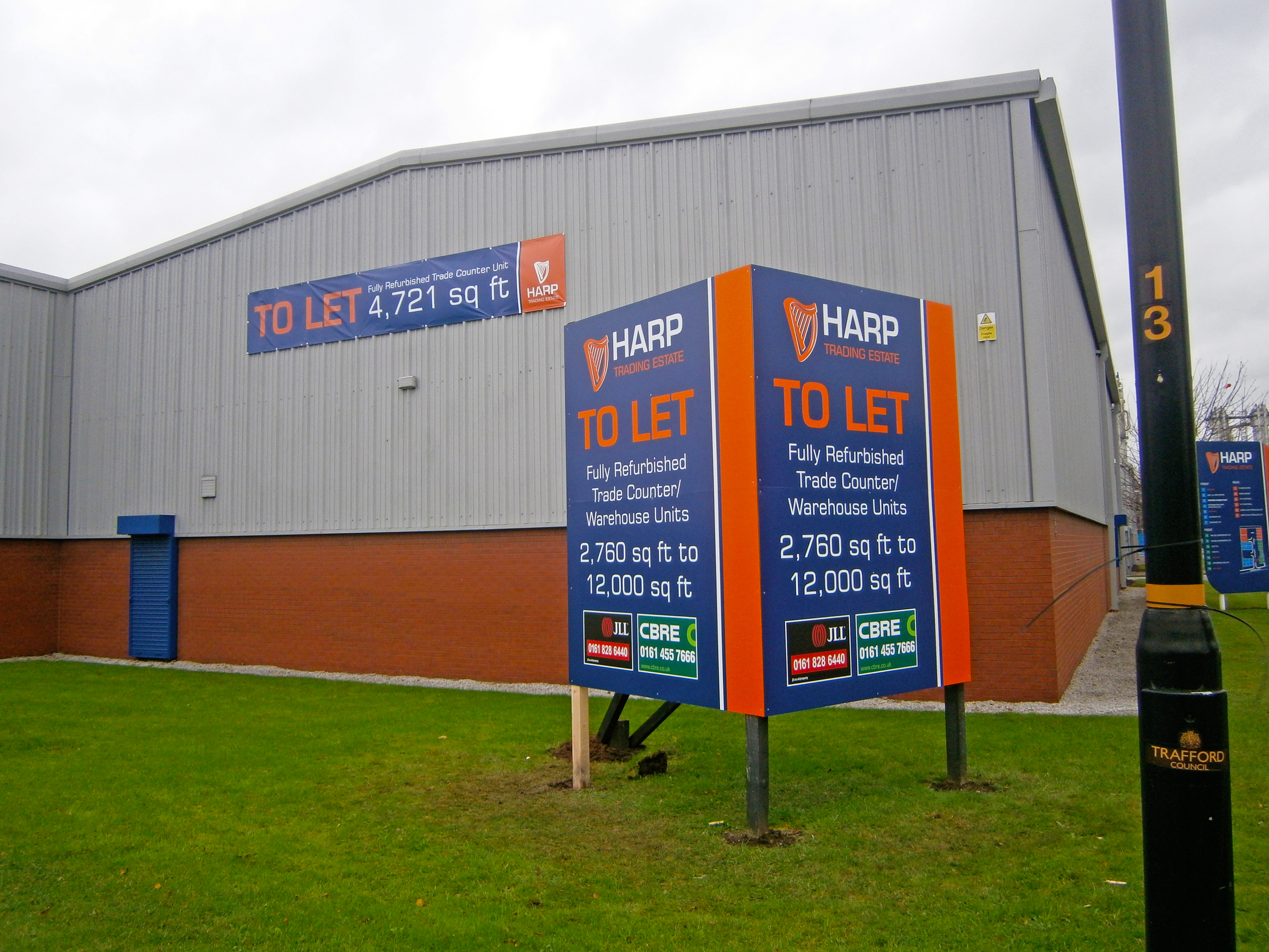 Free standing entrance sign and promotional banners