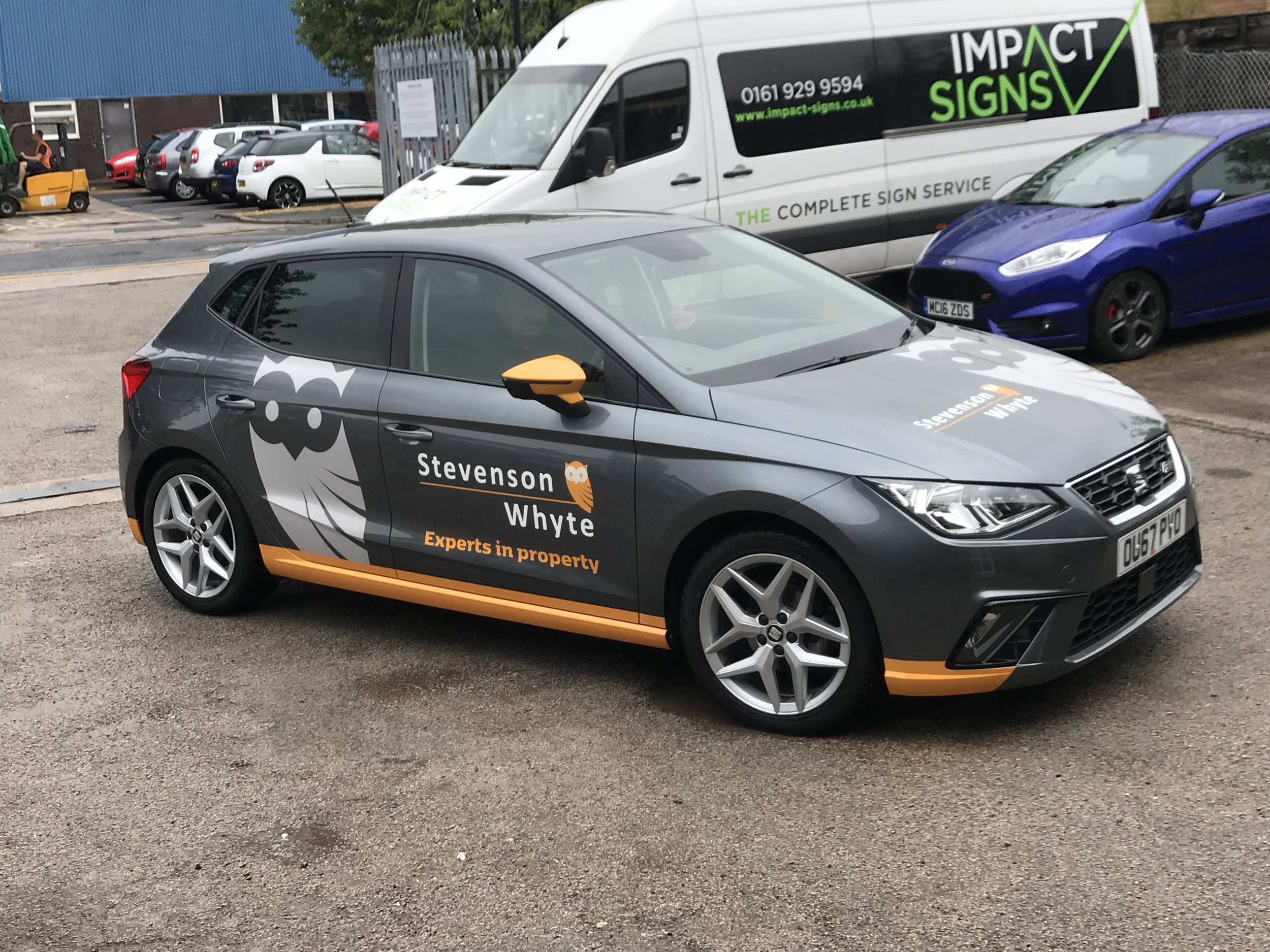 Seat Ibiza Vehicle Graphics.