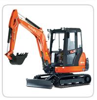 Excavators (6,000lb-7,000lb)  (Exhaust Scrubbers Available)    KX-71 – 6,500lb