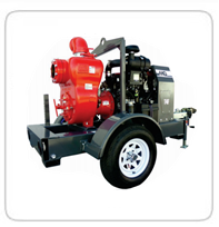 "Towable Pumps     6"" Multiquip Trash Pump"