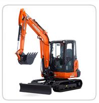 Excavators (7,500lb-9,900lb)     KX-040 - 9,855lb