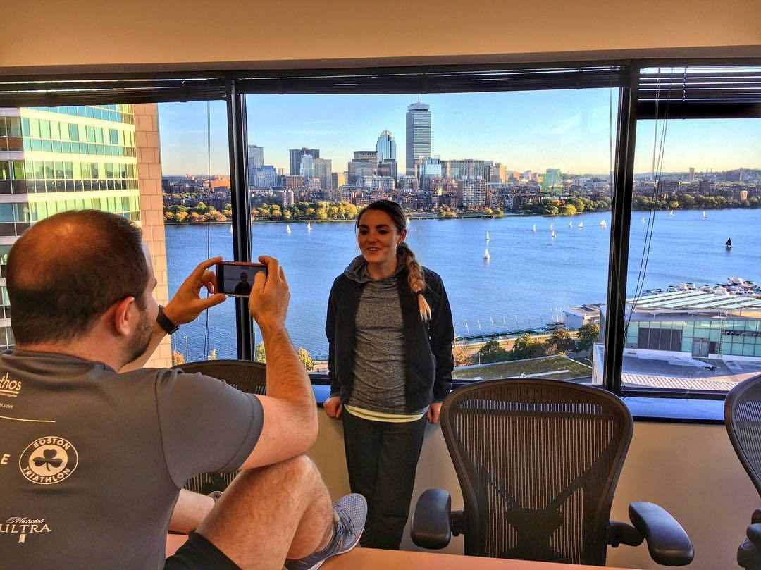 Inside Tracker Office! That View Though...