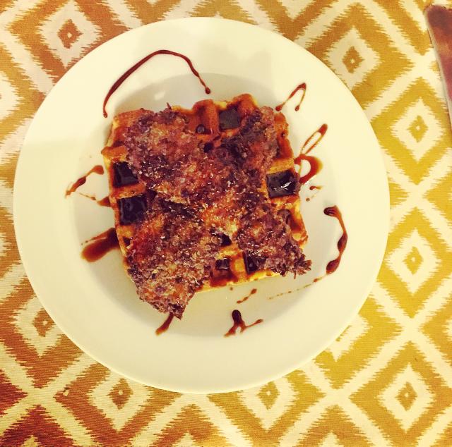 Sweet Potato Chicken & Waffles