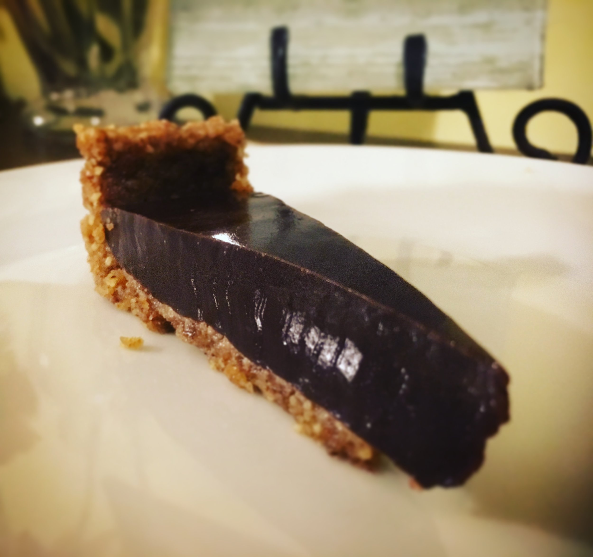 Vegan Dark Chocolate Salted Pie