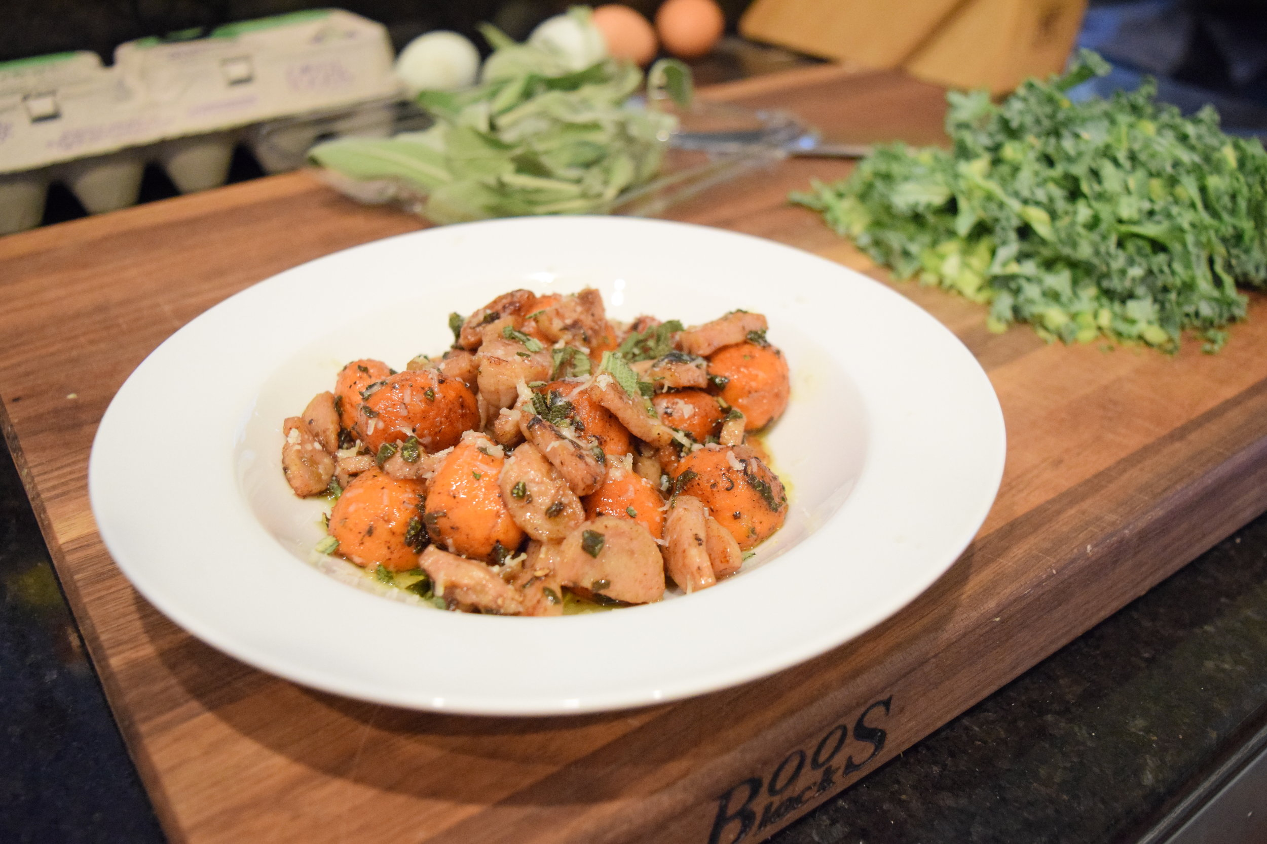 Sweet Potato Gnocchi in a Brown Butter Sage Sauce