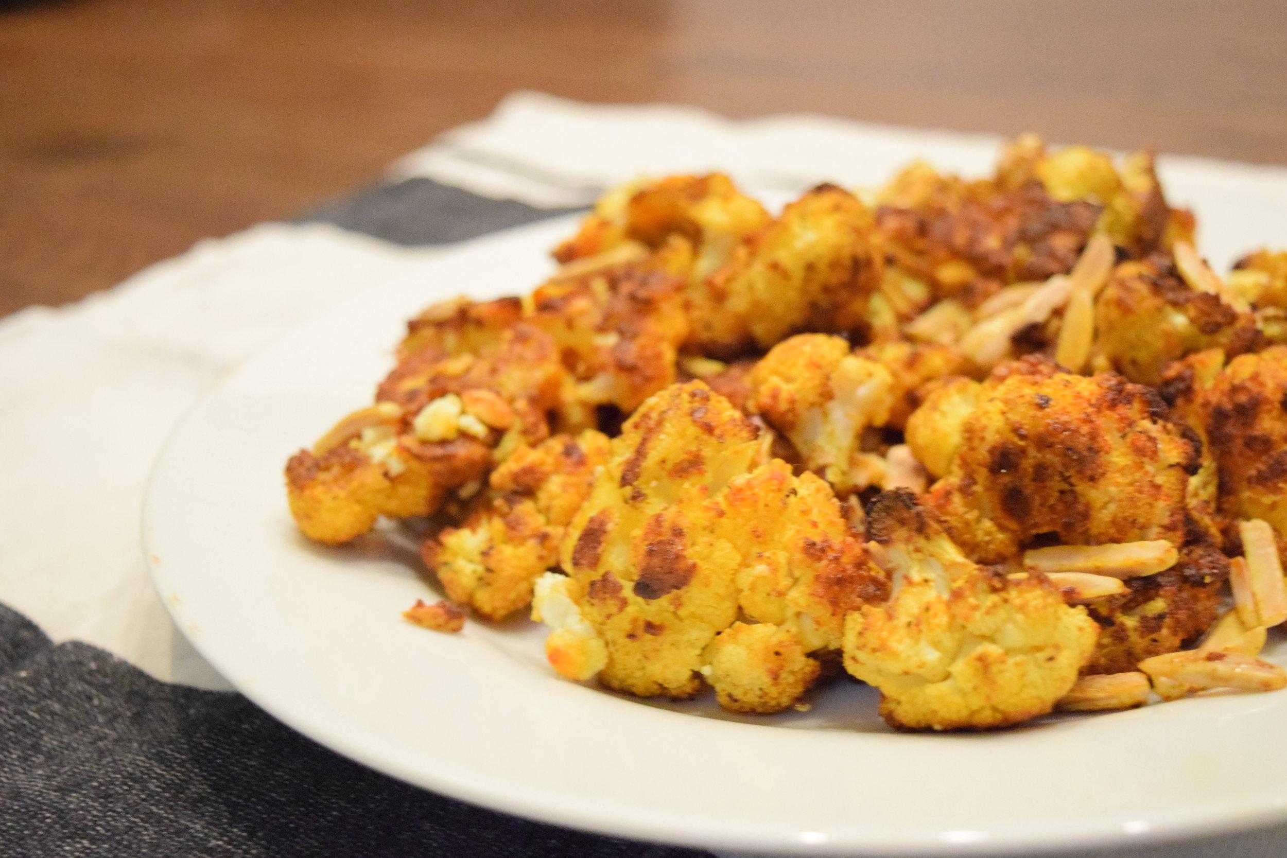 Turmeric Ginger Roasted Cauliflower with Neomega