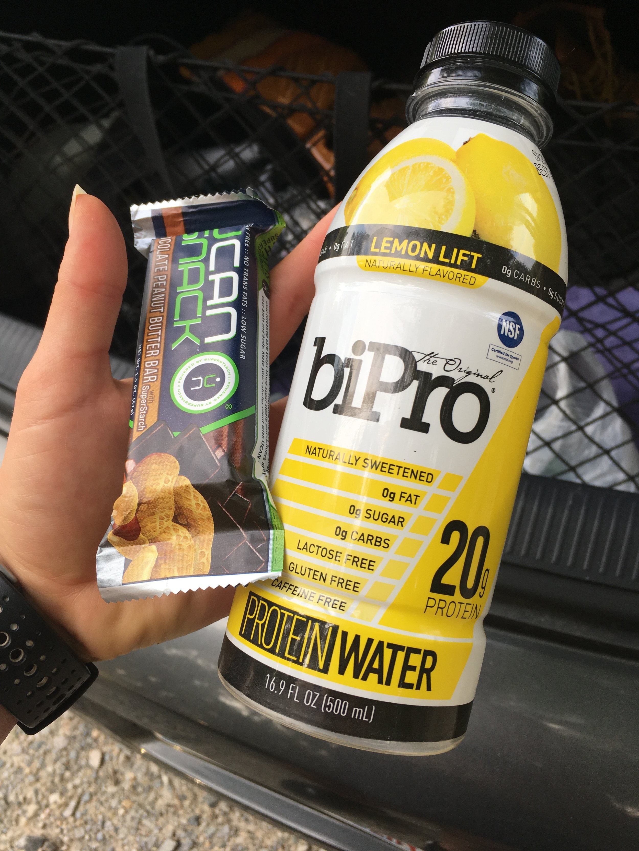 UCAN Snack Bar and BiPro Protein Water