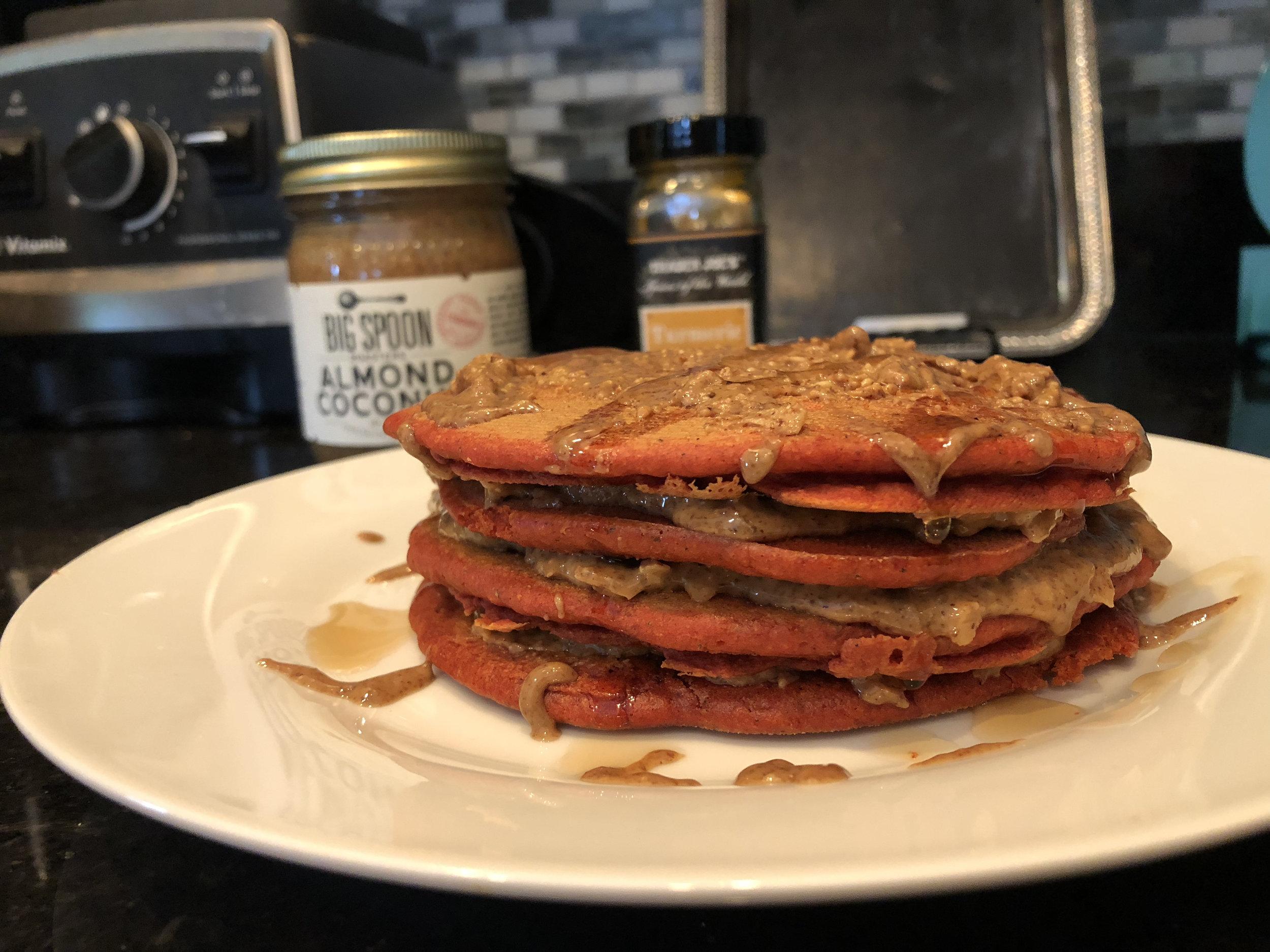 Anti-Inflammatory Turmeric Pancakes with Big Spoon Roasters