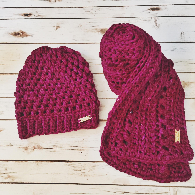 Roma Hat & Scarf Set Pattern
