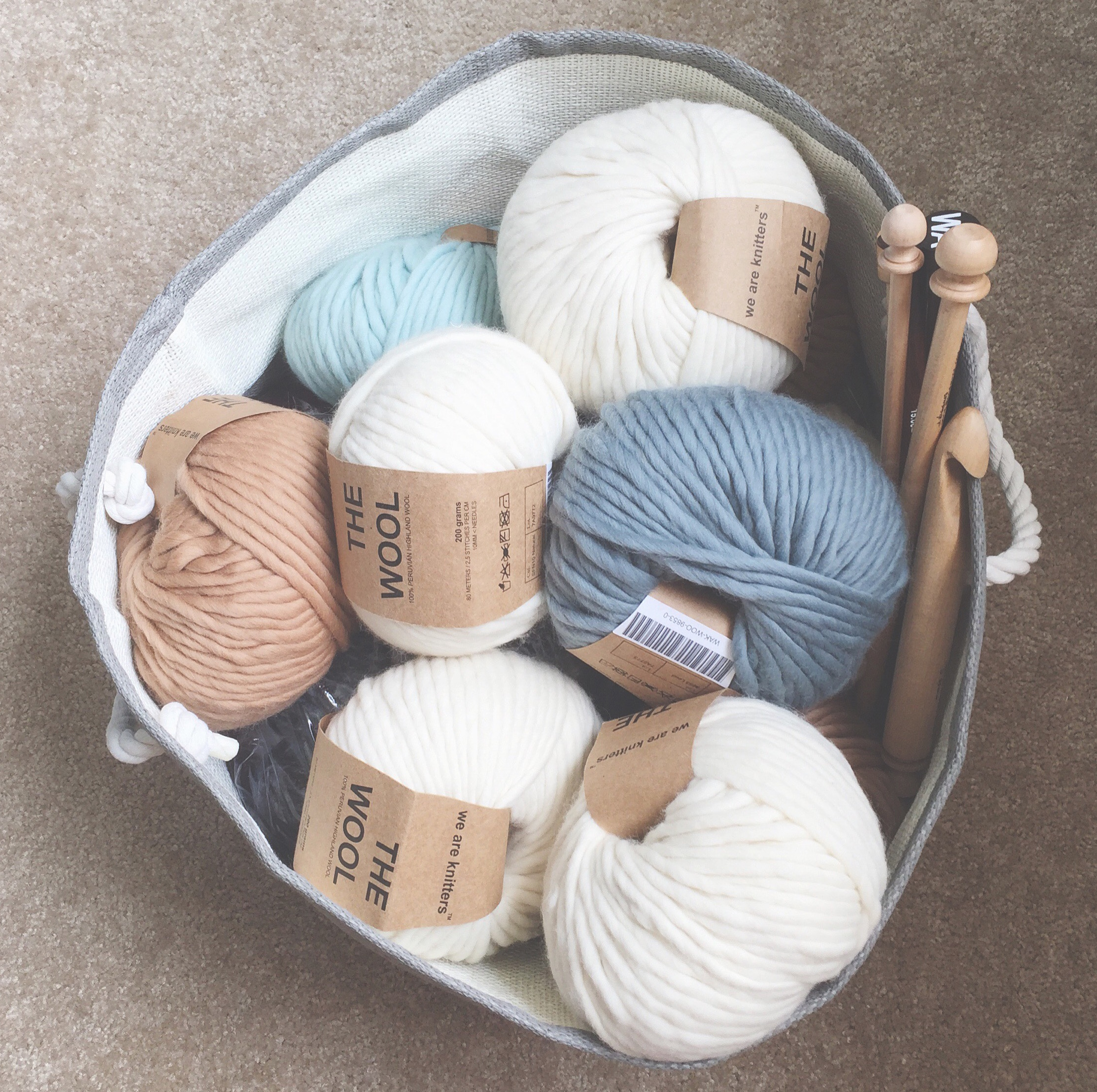 The Makings Of A Chunky Blanket