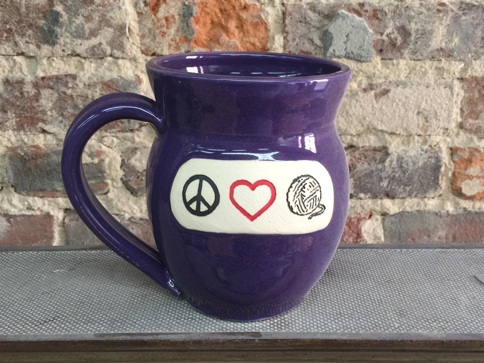 Peace, Love, Yarn Mug