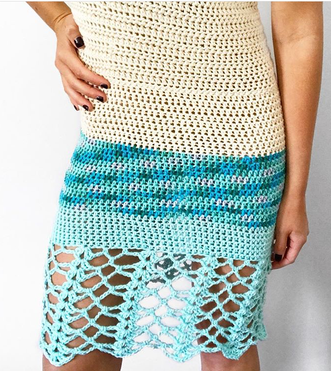 Laguna Crochet Beach Dress