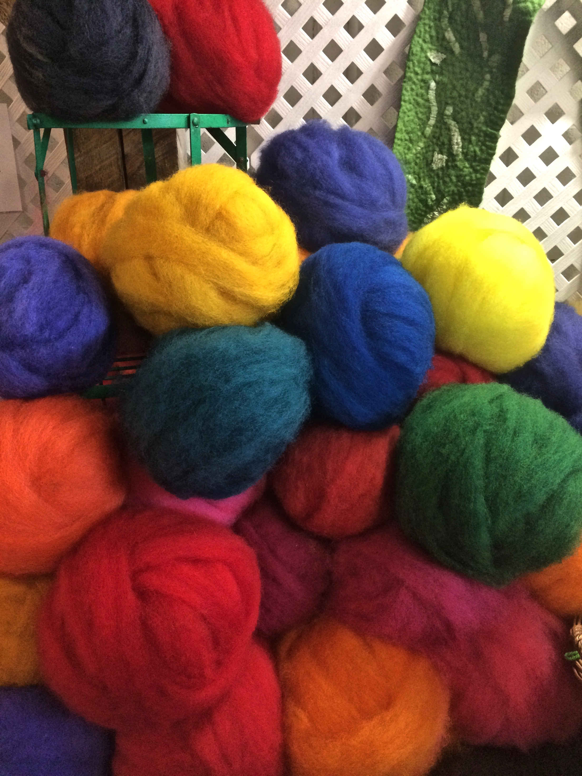 I've always wanted to start needle felting so I was in heaven. -