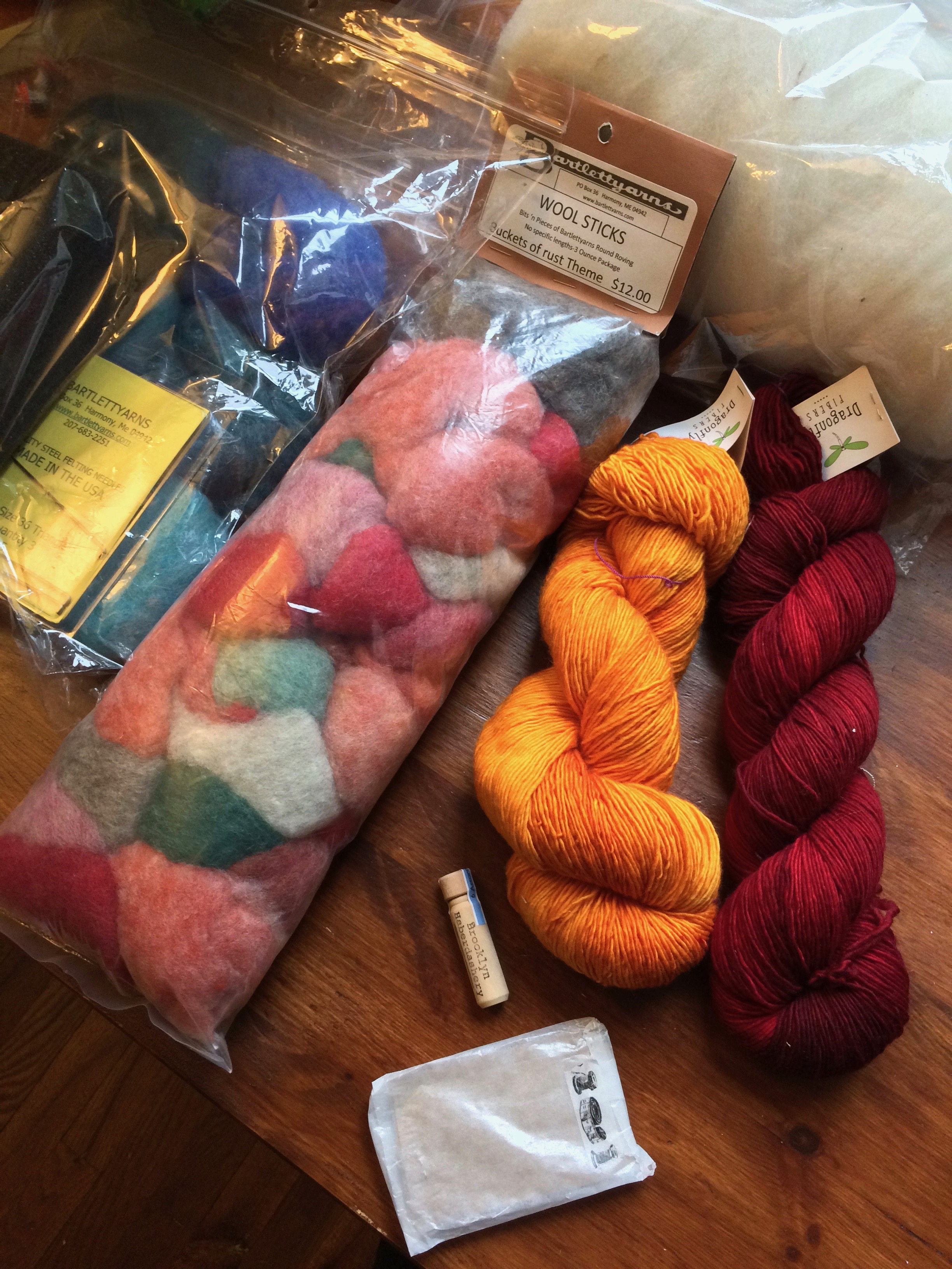 the obligatory haul photo...yup, i'm a sucker for roving.